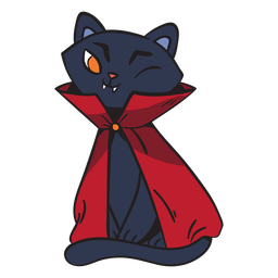 Dracula-Cartoon der schwarzen Katze