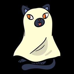 Desenho de fantasma de gato preto