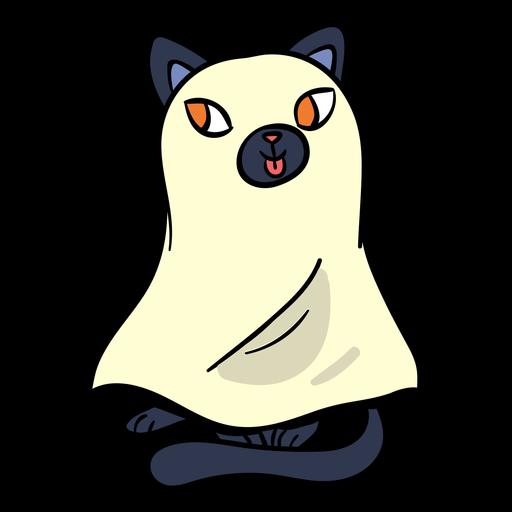 Black cat ghost cartoon