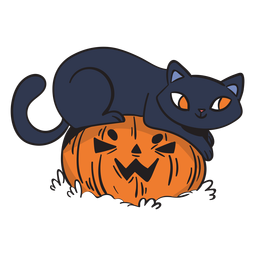 Spielerische Karikatur der schwarzen Katze