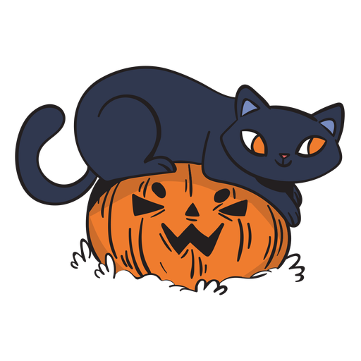 Dibujos animados juguetones gato negro Transparent PNG