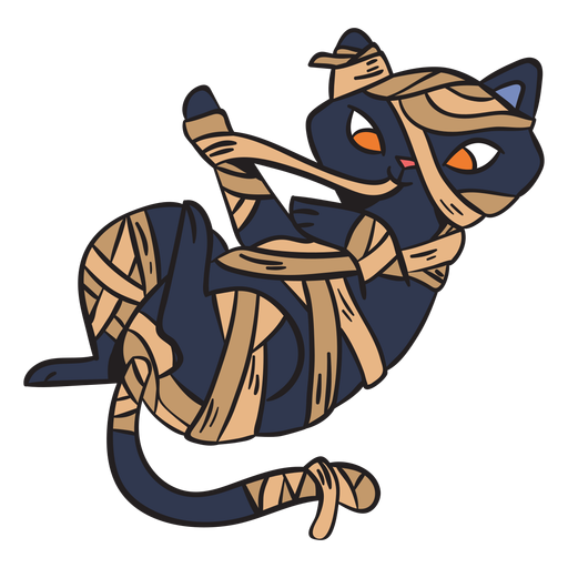 Dibujos animados de gato juguetón negro Transparent PNG