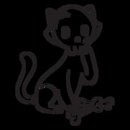 Desenho de caveira de gato