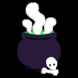 Dibujos animados de poción de elaboración de caldero