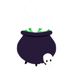 Dibujos animados de poción de preparación de caldero