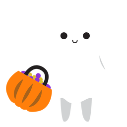 Cute ghost shopping cartoon