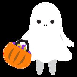Dibujos animados de compras fantasma lindo