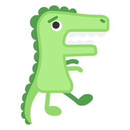 Cute green alligator cartoon