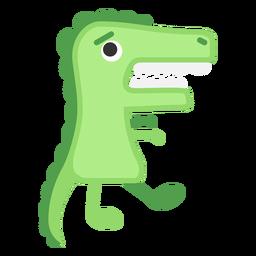 Dibujos animados lindo cocodrilo verde