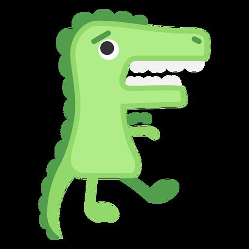 Cute green alligator cartoon