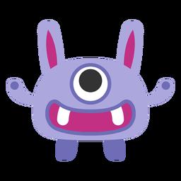 Dibujos animados lindo monstruo de un ojo