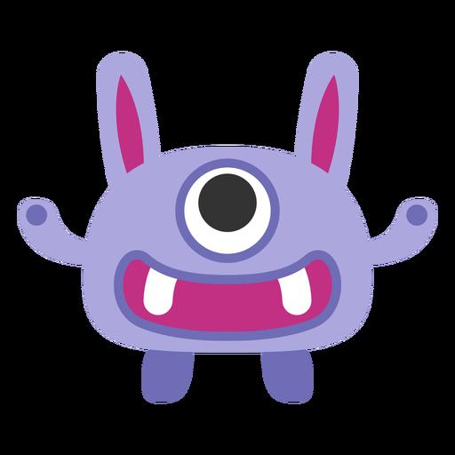Dibujos animados lindo monstruo de un ojo Transparent PNG