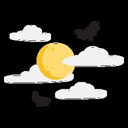 Desenho de morcegos voando