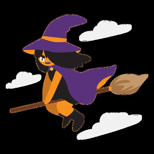 Dibujos animados de bruja voladora Transparent PNG