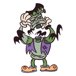 Frankenstein monster cartoon