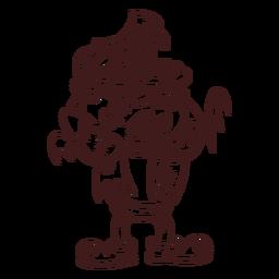 Desenho de monstro de Frankenstein