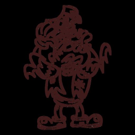 Bosquejo del monstruo de Frankenstein Transparent PNG