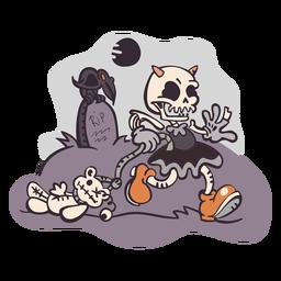 Dibujos animados de fantasma de cementerio