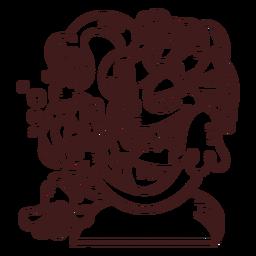 Esboço de cobras de Medusa