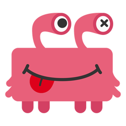 Dibujos animados de caracol monstruo