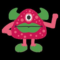 Dibujos animados de fresa monstruo