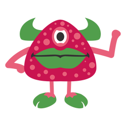 Monster strawberry cartoon