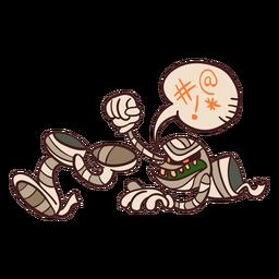 Dibujos animados de momia desmembrada
