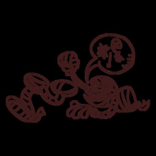 Dibujo de momia desmembrada