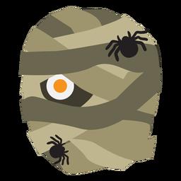 Dibujos animados de araña momia