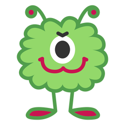 Dibujos animados de monstruo de un ojo