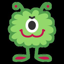 Dibujos animados de un monstruo de ojo