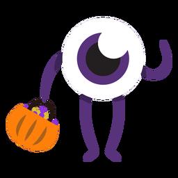 Monstruo de un ojo monstruo de dibujos animados
