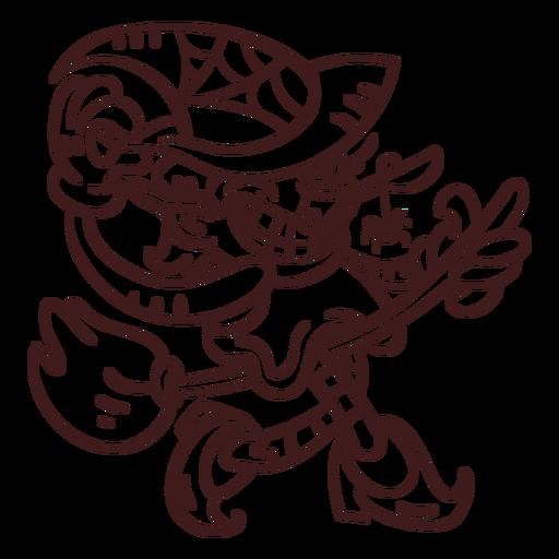 Bosquejo de bruja aterrador Transparent PNG