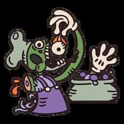Desenho de chef zumbi