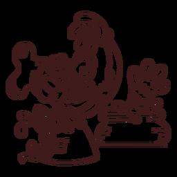 Dibujo de chef zombie