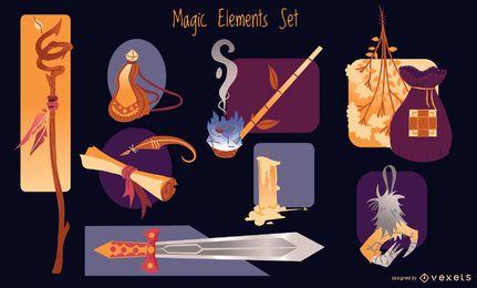 Magische Elemente gesetzt