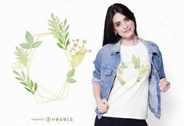 Design de t-shirt de plantas em aquarela