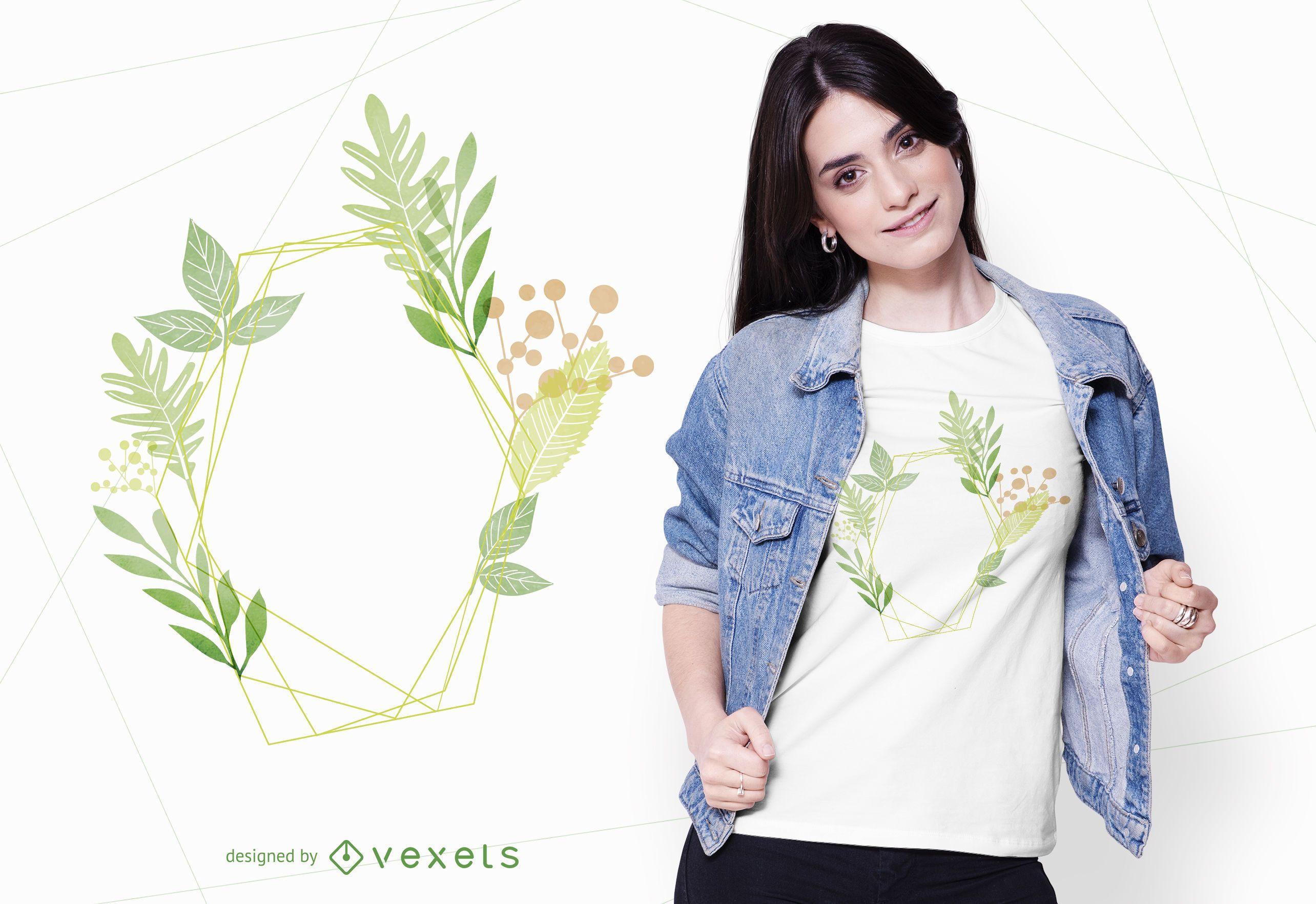 Watercolor Plants T-shirt Design