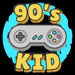 90s kid lettering joystick