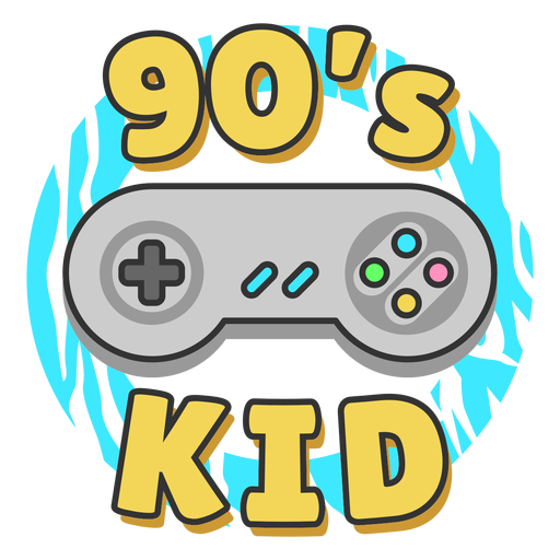 90s kid lettering joystick Transparent PNG
