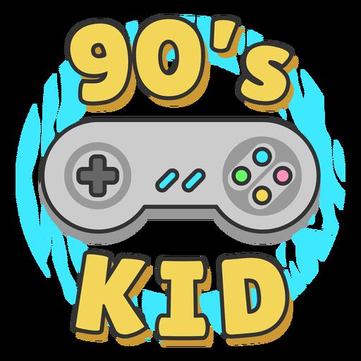 Joystick de letras para niños de los 90 Transparent PNG