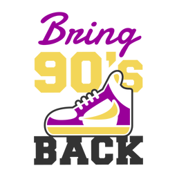 Sapatilha de rotulação dos anos 90