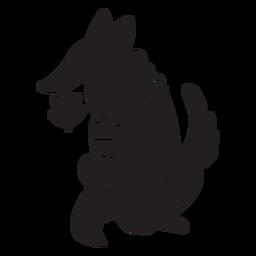 Fox cartoon silhouette