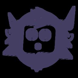 Yeti Silhouette Aufkleber Yeti