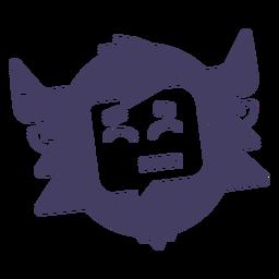 Yeti Aufkleber Silhouette Lächeln Yeti