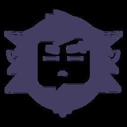 Verärgerter Yetiaufkleber-Schattenbild Yeti