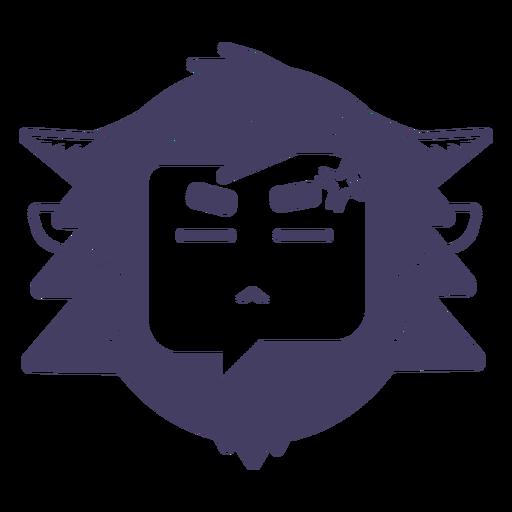 Angry yeti sticker silhouette yeti