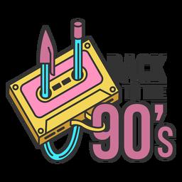 Back 90s lettering