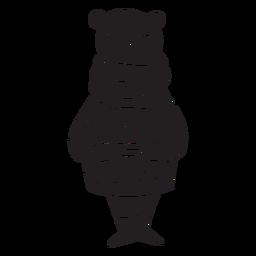 Animal de outono urso