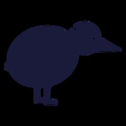 Pájaro silueta kiwi